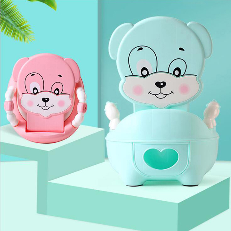 Baby Toilet Cartoon Children's Pot Cute Girls Portable WC Child Boys Urinal Road Pot For Kids Potty Training Seat Baby Potty image