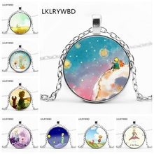 LKLRYWBD /, The New Gift of Little Prince Retro Round Pendant Glass Necklace.