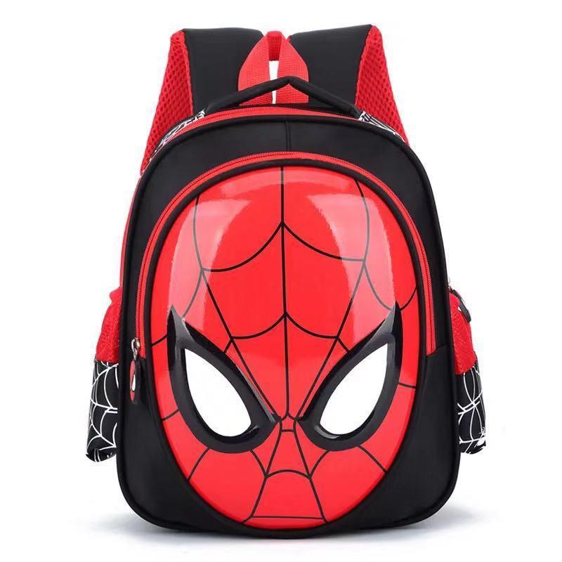 3D Spiderman Backpack Super Heroes School Bag Boy Waterproof Children Bag 3-12 Years
