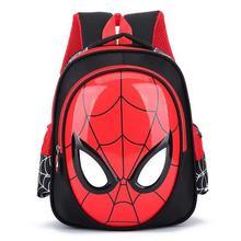 3D Spiderman backpack Super heroes school bag boy waterproof children b