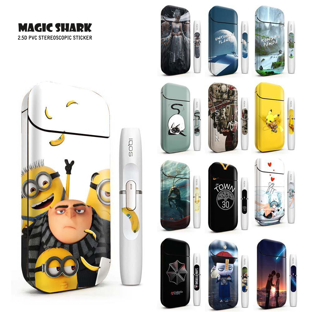 Magic Shark Stereo Pikachu Despicable Me Kongfu Panda Cat Film For IQOS 2.4p Sticker For IQOS 2.4 Plus Skin Case