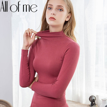 Warm Thermal Underwear Sexy Ladies Intimates Long Johns Women Shaped Sets Female Middle Collar Thermal Shaping Clothes