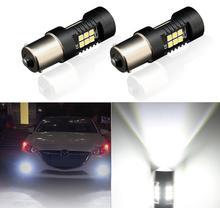 Светодиодсветодиодный лампы P21W 1156 BA15S, 2 шт., автомобильные фары для Hyundai Santa Fe TM 2019 I30 2018 Solaris Azera Elantra Majesty