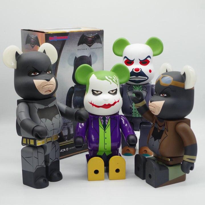 28cm 400% Bearbricklys Action Figures Block Bear PVC Hopping Vampire Babybear Dolls Collectible Models Toys For Kids Friends