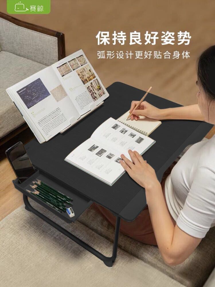 Bed Computer Desk Multifunctional Reading Frame Bed Folding Computer Table With Table Large Desk And Drawer Desk