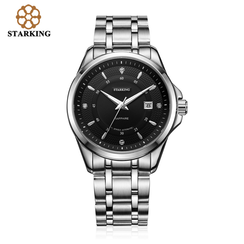 <font><b>STARKING</b></font> Top Brand Luxury Men's Watch Rerto Design <font><b>Automatic</b></font> Self-wind Stainless Steel WristWatch Waterproof relogio masculino image