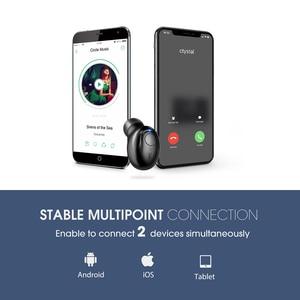 Image 4 - Mpow EM16 Single Bluetooth Earphone 5.0 Wireless Invisible Earpiece  In ear Bluetooth Earbud With Mic Portable Business Earphone