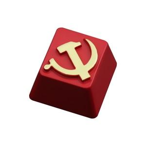 Image 5 - KeyStone Keycap 1 stücke Sowjetischen thema aluminium legierung metall mechanische tastaturen tastenkappen R4 höhe für Cherry MX achse