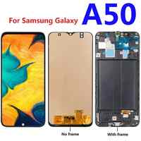 For Samsung Galaxy A50 A505F A505F/DS A505A A505FD LCD Display Touch Screen Digitizer Assembly frame replacement parts