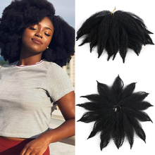Mtmei Hair Afro Kinky Crochet Hair 8 Inch Marley Braids Hair For Twist Hair Extension Black Ombre Brown Synthetic Braiding Hair cheap Low Temperature Fiber CN(Origin) 14strands pack 8 inches 40g per pack 7-10 Packs