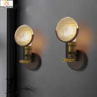 American retro wall lights Industrial Retro Headlights wall lamps Bar caf Aisle Corridor restaurant Decoration lighting fixtures
