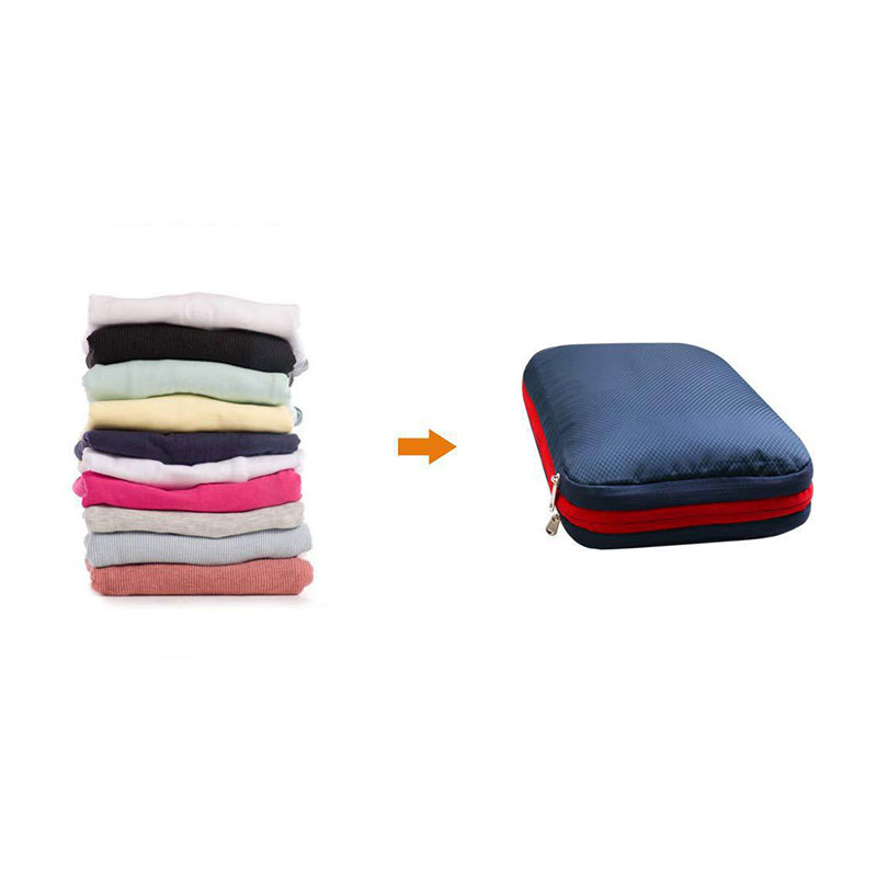 Men's Women Compression Packing Cubes Travel Luggage Organizer Waterproof Nylon Large Capacity Foldable Travel Bag Set