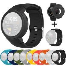 Relógios inteligentes relógios unissex pulseira de relógio de silicone pulseira + tpu proteger caso para huami amazfit verge juventude relógio
