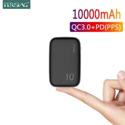 FERISING PD Power Bank 10000mAh Portable External Battery Charger USB Type C QC 4.0 3.0 10000 mah for Xiaomi Mi Powerbank banks