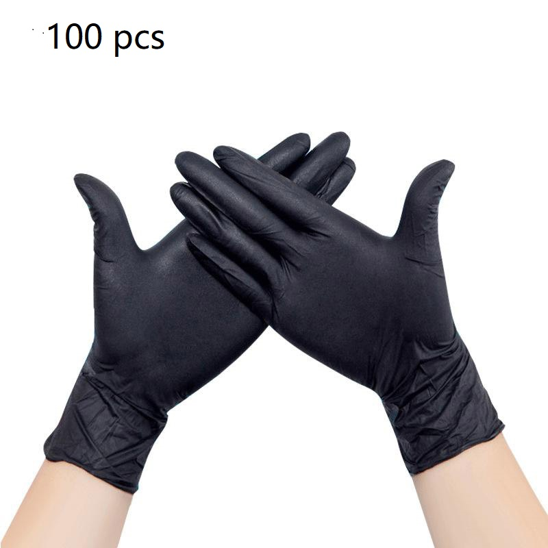 100/50PCS Disposable Gloves  Universal Cleaning Work Finger Gloves Latex Protective Home Food For Safety