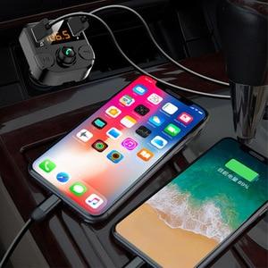 Image 3 - Cargador de manos libres transmisor Fm con bluetooth para coche, reproductor de Audio, música, MP3, bluetooth 5,0, USB dual, accesorios para coche