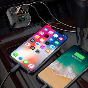 Image 3 - Samochodowy nadajnik bluetooth Fm bezprzewodowa ładowarka samochodowa podwójny USB bluetooth 5.0 Audio muzyka odtwarzacz MP3 akcesoria samochodowe bluetooth