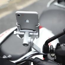 360 derece alüminyum alaşım bisiklet standı braketi ayarlanabilir bisiklet bisiklet gidon montaj motosiklet dikiz aynası telefon tutucu