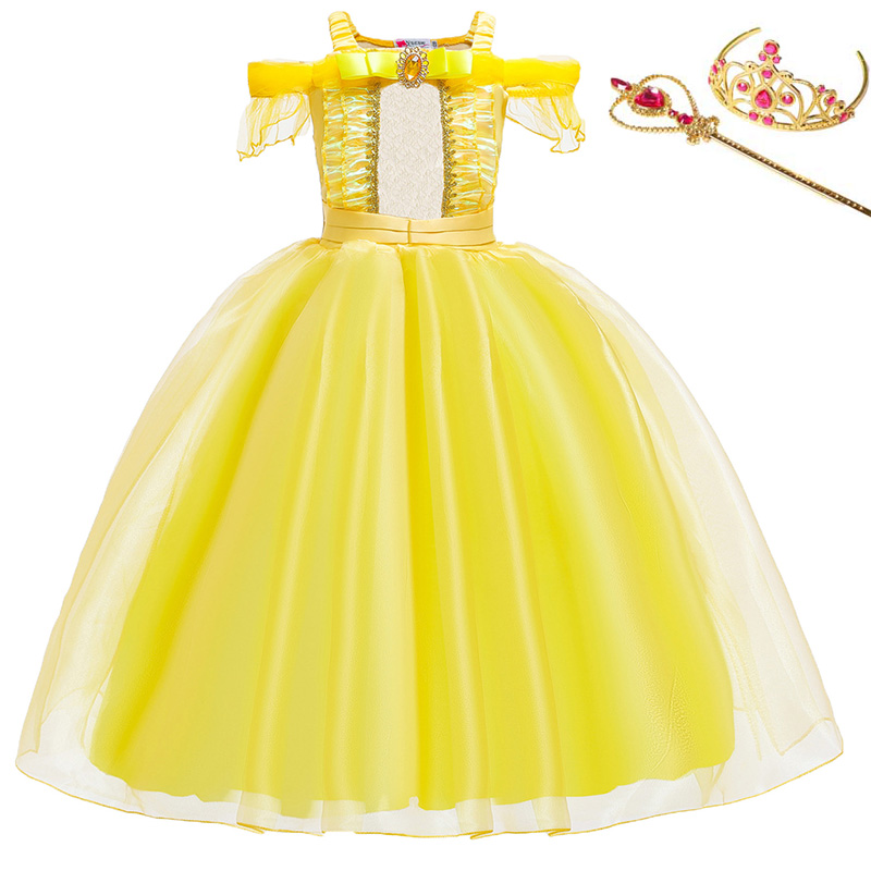 Princess Little Girls Cosplay Summer Flower Dresses Girl's Snow Queen Dress Clothing Baby Kids Beauty Princess Clothes Customes 3