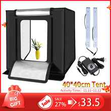 WINGRIDY W40 LED Folding Photo Studio Softbox Lightbox 40*40 light Tent with white yellow black background Accessories box light - DISCOUNT ITEM  25% OFF All Category