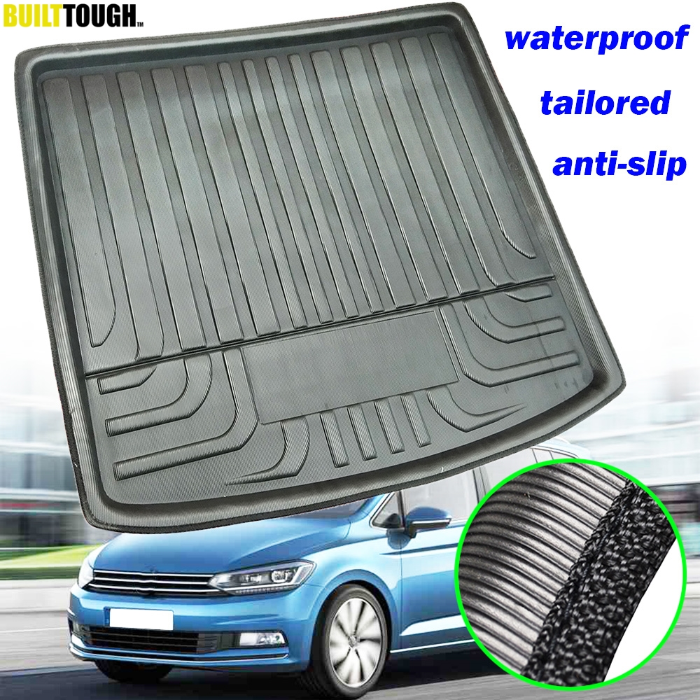 For VW Touran MK3 2016 2017 2018 2019 Car Cargo Boot Liner Tray Rear Trunk Floor Mat Carpet Heavy Duty Accessories
