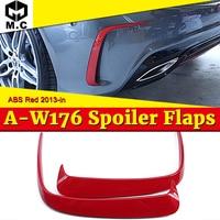 W176 amortecedor traseiro lado divisor ventilação abs gloss vermelho se encaixa para mercedesmb a classe a180 a200 a250 a45amg estilo esportes 2 pces 2013 2018|Amortecedores| |  -