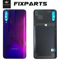 Novo vidro de volta para huawei honor 9x bateria capa painel porta traseira habitação caso substituição para huawei honor 9x pro bateria capa