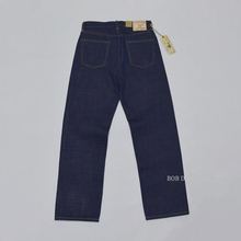 Bob dong 21oz regular jeans retos para homem selvage denim vintage modelo indigo