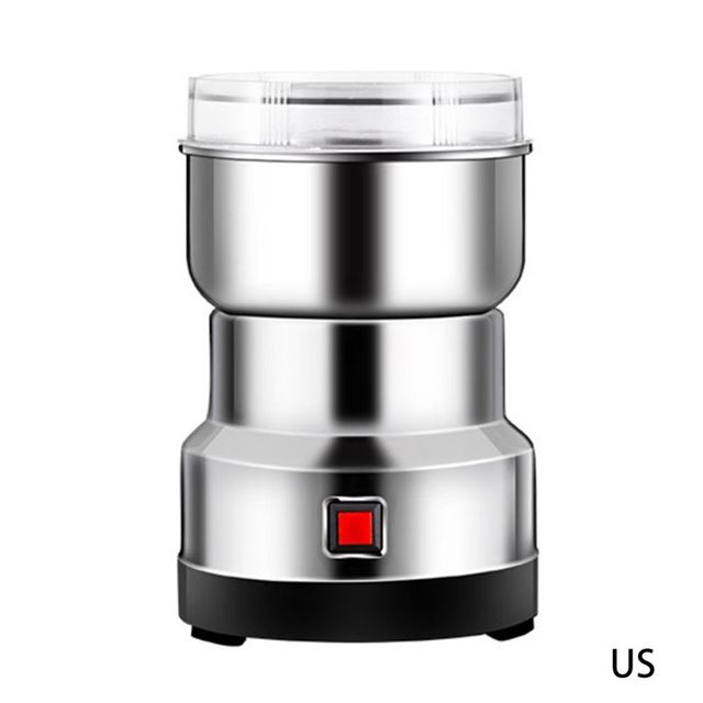 Electric Coffee Bean Grinder Stainless Steel Blades Cafe Spice Mill Blender