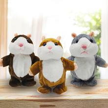 Talking Hamster Mouse Stuffed Plush Animal Funny Electronic Walking Speaking Doll Toy Sound Record Educational Toys