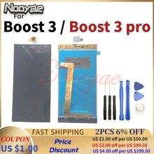 """5 """"שחור Boost3 חיישן עבור Highscreen להגביר 3/Boost 3 פרו LCD תצוגה + מסך מגע Digitizer מסך הרכבה"""