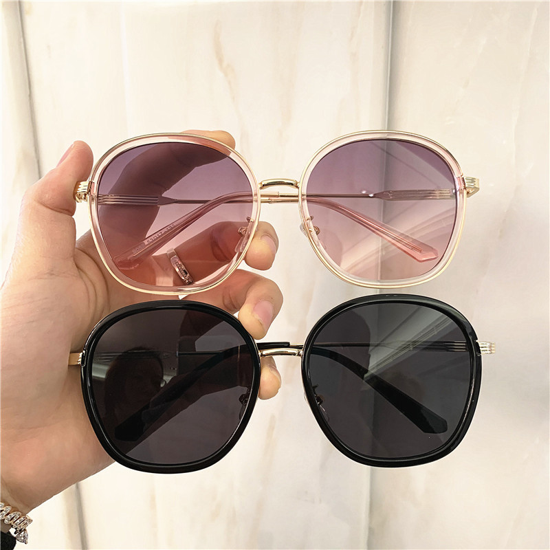 Vintage Luxury Oversize Sunglasses Metal Frame Grandient Shades Sun Glasses 2020 Summer