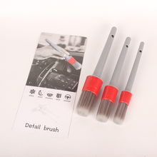 Buy 2019 New 3pc/Set Professional Grey PP Hair Brush Car Wheel Rim Clean Interior Air Vent Engine Brush Car Wash Auto Detailing directly from merchant!