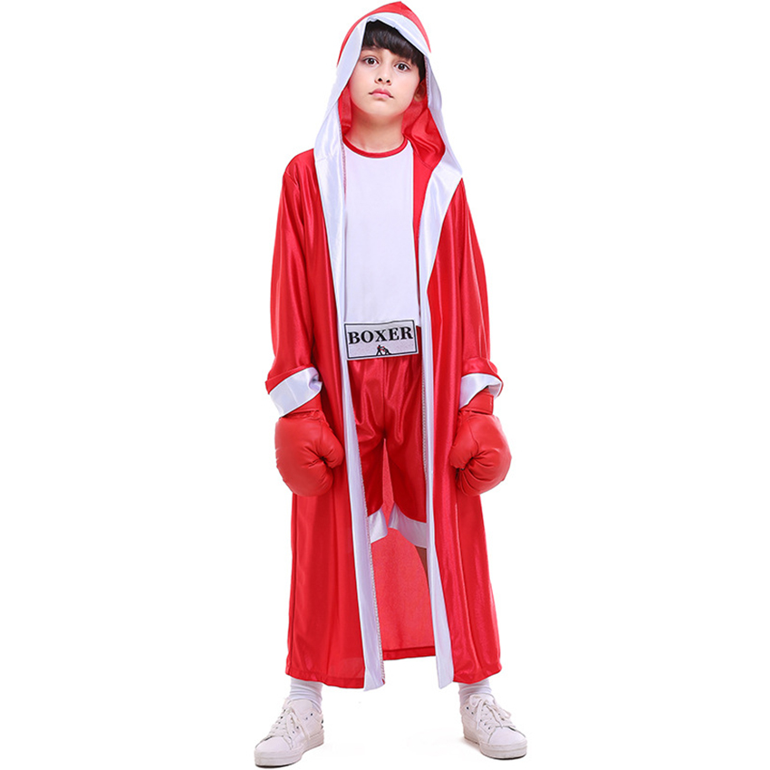 Костюм для Хэллоуина; детская спортивная одежда; красные и синие боксеры; модный костюм для бокса; костюм для фотографирования