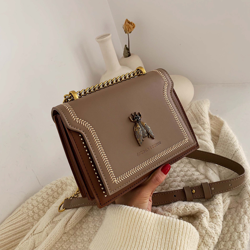 FANTASY New PU Leather Fashion Crossbody Bags For Women British Style Shoulder Messenger Bag Lady Travel Mini Animal Chian Bags