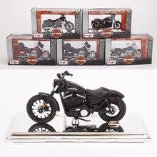 Maisto 1:18 15 stil motosiklet bisiklet modeli oyuncak Harley 2009F XDFSE CVO yağ BOB 2016 BREAKOUT 2004 FXSTDSE CVO 2015 sokak 750