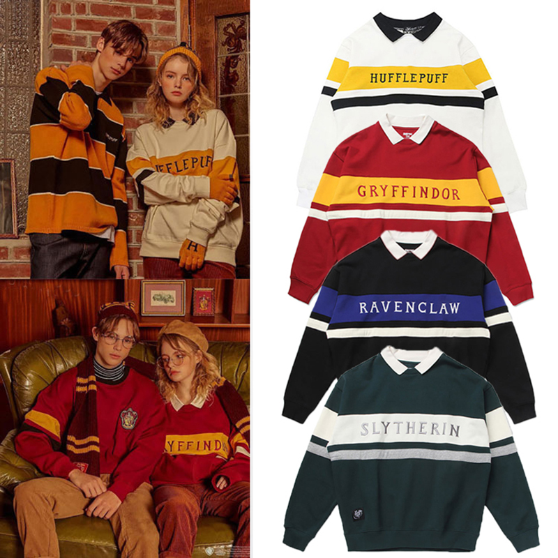 Fashion Sweater Potter Couple Sweater Magic School Gryffindor Uniform Medal Tide College Quidditche Neckline Birthday Gifts