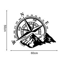 1pcs 3D High Quality  Car Sticker Compass Rose Navigate Mountain  4x4 Offroad Vinyl Sticker Decal Car Decal 60*50cm