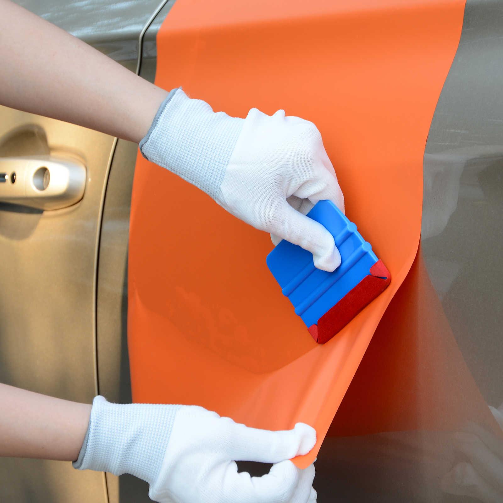 EHDIS 50 шт. 3 слоя ткани войлочная ткань для виниловая Автомобильная обертка 10 см карточка Ракель обертывание ping углеродная фольга пленка скребок авто аксессуары