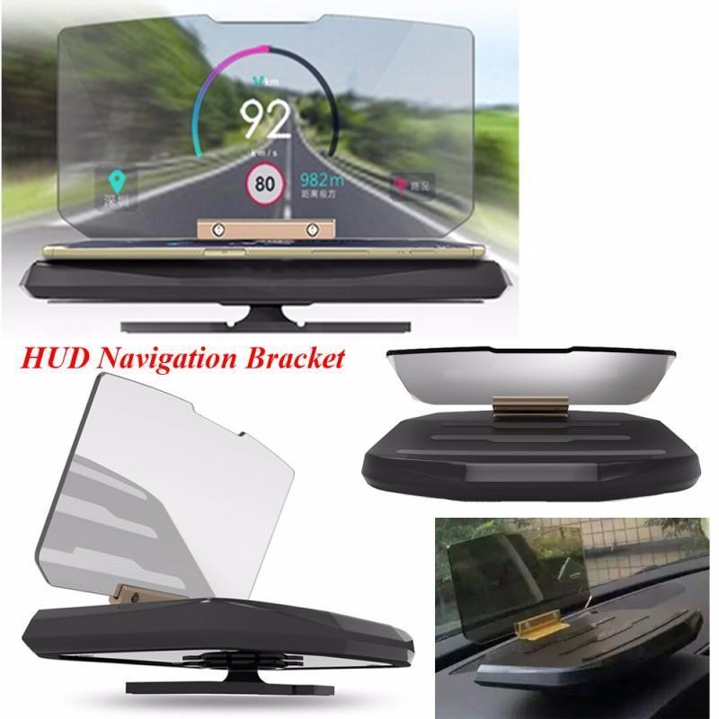 Franchise Universal Holder Car HUD Head Up Display Through Projection Phone Navigation Smartphone Holder GPS Hud For Any Cars Universal Car Bracket Automobiles & Motorcycles - title=
