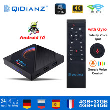 H96 max h616 smart tv caixa android 10 4gb ram 64gb 1080p 4k bt android tv caixa conjunto media player h96max