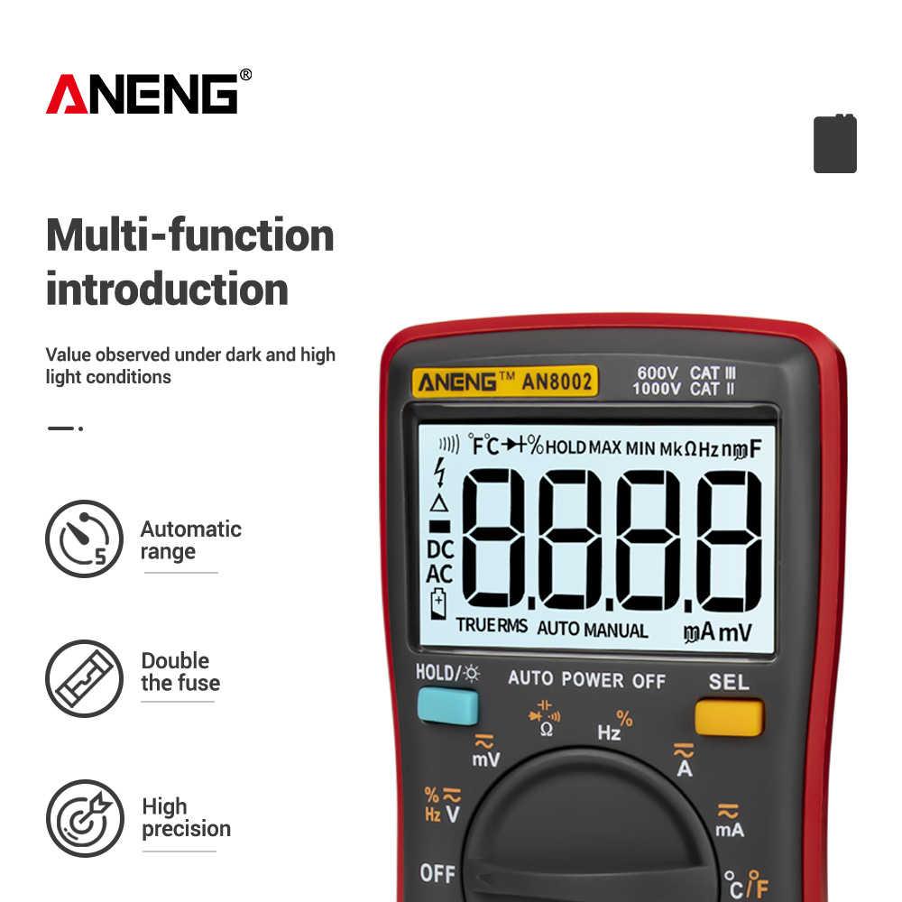 AN8002 LCD-Digital-Multimeter 6000 zählt Hintergrundbeleuchtung Auto Range  #OS