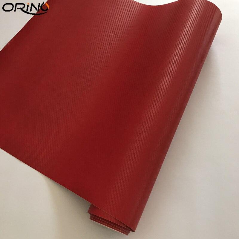 Red 3D Carbon Fiber Vinyl Wrap Sticker-2