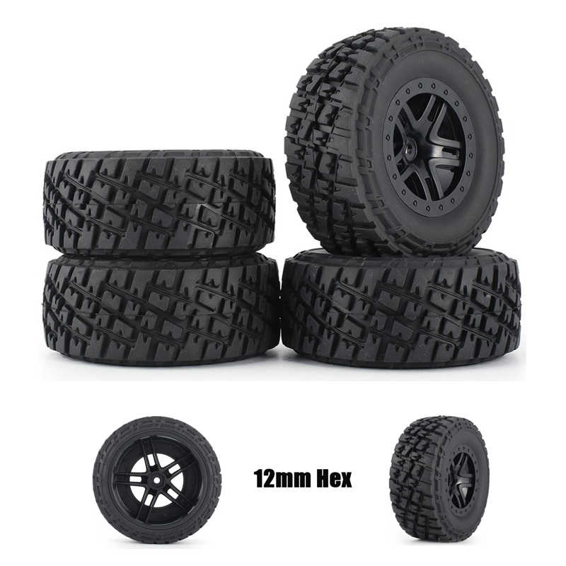 4 Pcs Austar 110 Mm Velg Rubber Tyre Wheel Set Kit Onderdelen Accessoires Voor Traxxas Slash 4X4 RC4WD Hpi Hsp Crawler Auto Model