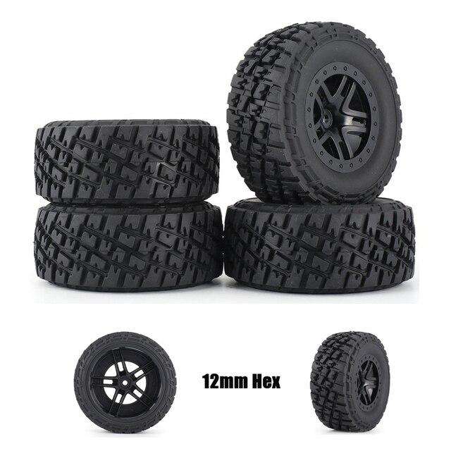Комплект резиновых колес AUSTAR 110 мм, 4 шт., комплект запасных частей для модели гусеничного автомобиля Traxxas Slash 4X4 RC4WD HPI HSP