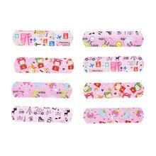 50 pçs impermeável respirável bandaid emplastros criança adultos crianças feridas adesivos dos desenhos animados primeiros socorros adesivo ataduras