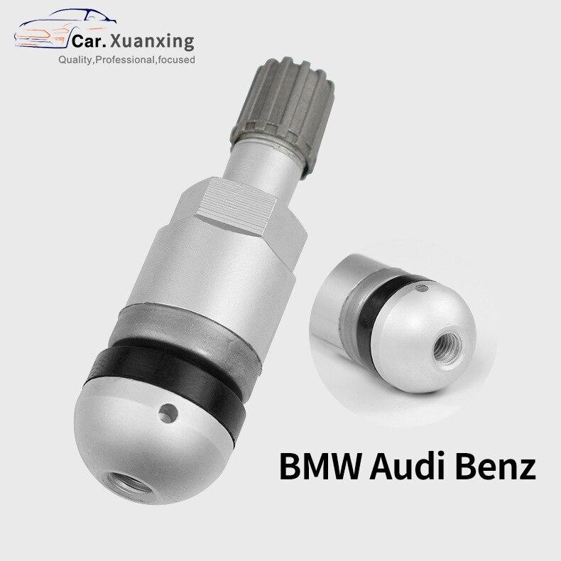 TPMS Tire Valves For BMW Audi Mercedes Benz Aluminum Alloy Car Valve Stem Tire Sensor Kit Tire Pressure Sensor Valve Replacement