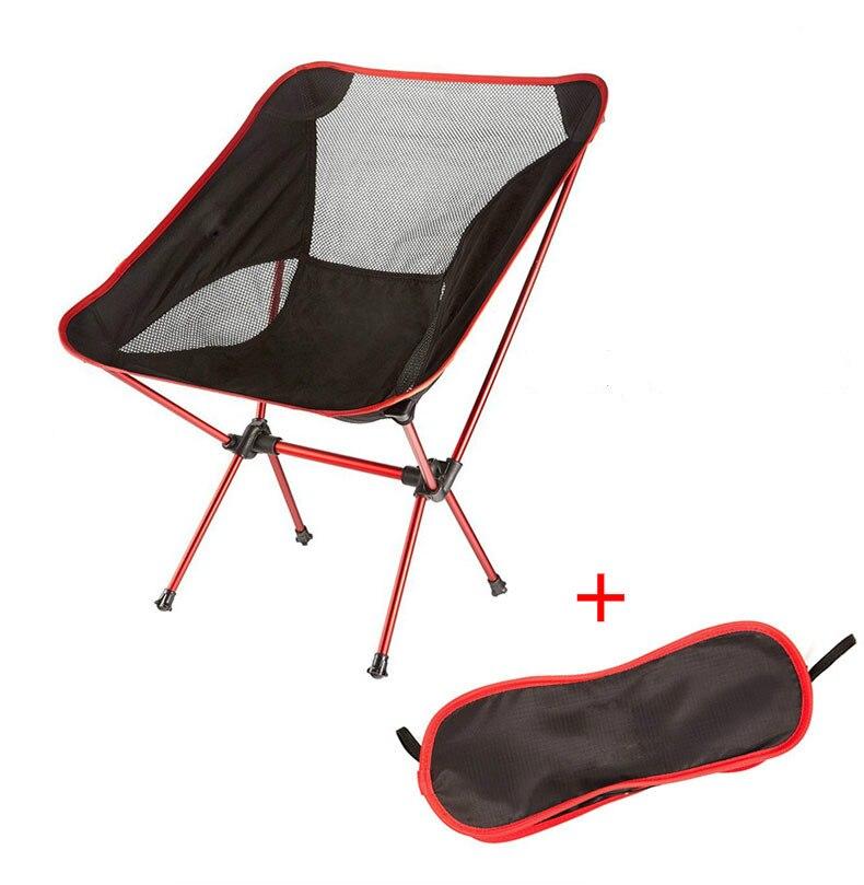Garden Outdoor Beach Hiking Picnic Office Home Furniture Chair Ultralight Portable Folding Fishing Chair Camping Farm Chairs