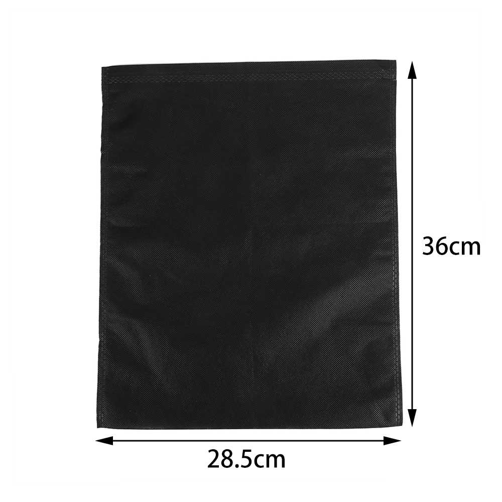 5PCS Black Carry Bag Travel Sports Shoes Canvas Sandals Dust Proof Drawstring Organizer Storage Pouch Protector Container