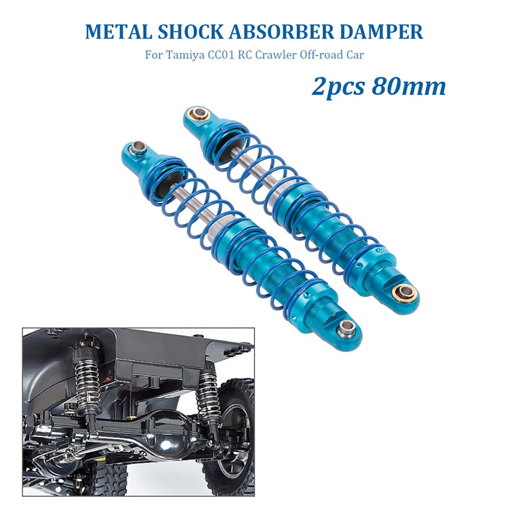 2pcs Shock Absorber Of 80mm Climbing Car For Tamiya CC01 Adjustable Metal Shock Absorber Accessories